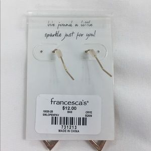Francesca's Collections Jewelry - Francesca's gold rhinestone earrings